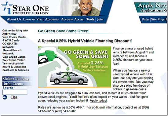 Star One Credit Union Car Loan